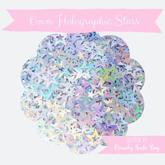 5 grams - 6mm Hollow Star Glitter, Holographic Star Glitter, Glitter, Silver, Glitter Confetti, Confetti, Kawaii, Resin Glitter