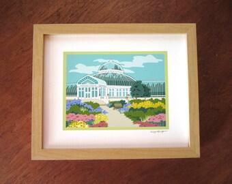 Conservatory Entrance, Como Park, St. Paul, art print