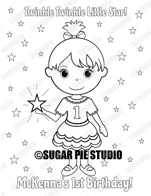 Primer cumpleaños Twinkle Twinkle star poco Favor fiesta de