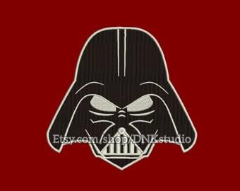 Star Wars Darth Vader Embroidery Design - 5 Sizes - INSTANT DOWNLOAD