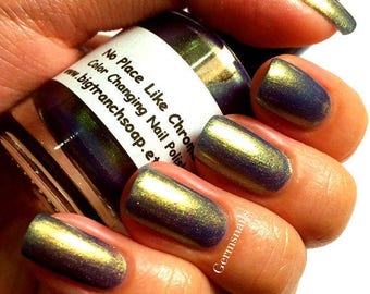 "Nail Polish - Multichrome- Color Shifting - ""No Place Like Chrome"" - FREE U.S. SHIPPING - Hand Blended - 0.5 oz Full Sized Bottle"