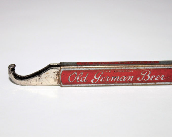 "Vintage 1930s Advertisement Slider Bottle Opener  ""The Original Old German Beer""   JFO M-3"