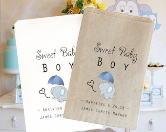 """Baby Shower treat bags 