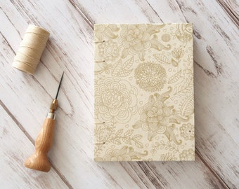 Coptic Journal Coptic Notebook Writing Journal Travel Journal Blank Book Hardcover Hand Bound 160 Lined Cream Pages