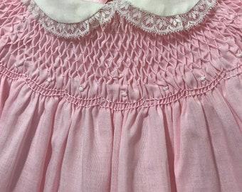 Vintage 1960 Cherubs HandSmocked Baby Dress