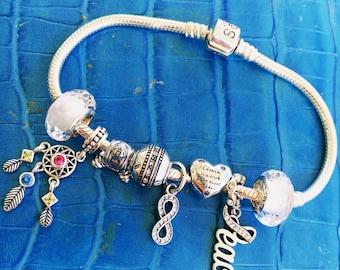 925 silver bracelet complete peace & love