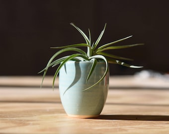 MINI SUCCULENT PLANTER // succulent planter - mini planter - air plant holder - blue succulent planter - ceramic succulent planter