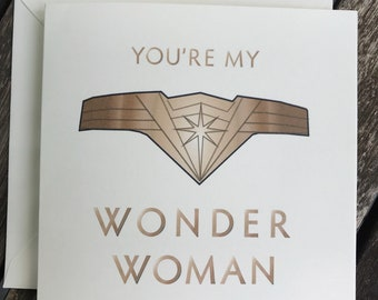 You're My Wonder Woman Mother's Day card