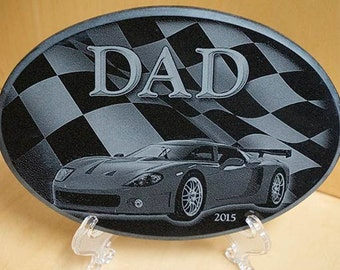 Gifts for Dad ~ Engraved Sports Car Plaque ~ Engraved Marble ~ Car Enthusiast ~ Father's Day