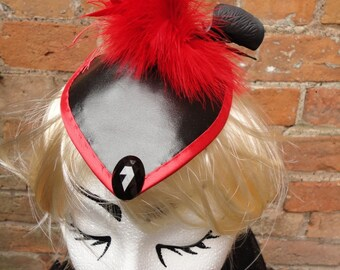 Scarlet Geisha Fascinator