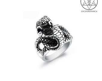 Viper Ring - Cobra occult heavy metal snake serpent gothic ring jewellery