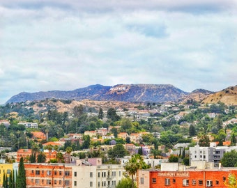 Hollywood Sign w/ Buildings Photo Print