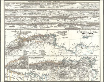 Poster, Many Sizes Available; 1865 Spruner Map Of Northwestern Africa, The Magreb, And The Barbary Coast In Antiquity