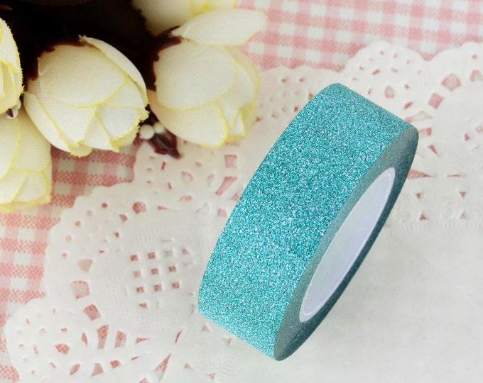 Blue Glitter Washi Tape