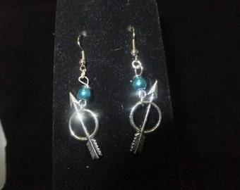 Blue & Silver Arrow Earrings