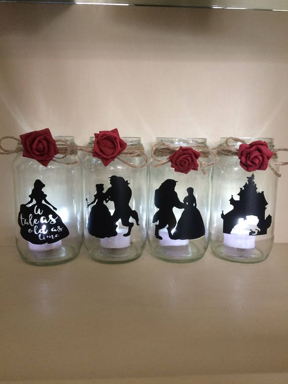 beauty and the beast wedding centerpiece lantern jar belle. Black Bedroom Furniture Sets. Home Design Ideas