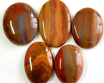 A++ Quality 196 Cts Natural Snakeskin Jasper, 28 to 31 mm Handmade Cabochon, Snake Skin Loose Stone, Jewelry Making Gemstone