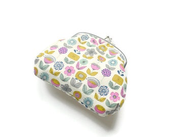 Bridesmaid gift Gifts for mom Gift for her Sister gift Coin Purse Clutch Retro pouch Womens wallet Floral purse Clutch bag Clutch purse