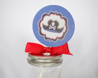 Pirate Whirly Pop. Party Favor. Lollipop. Red. Cherry Flavored