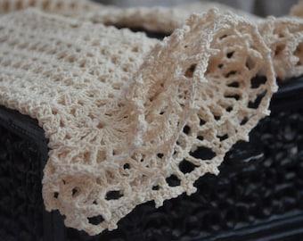 Lace Boho Wrist cuffs, Romantic Crochet Mitts