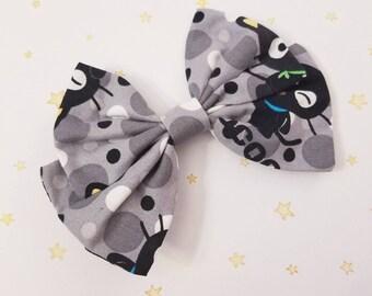 Kawaii Black Cat Chococat Hair Bow Clip - Fairy Kei Decora Pastel Goth Harajuku inspired
