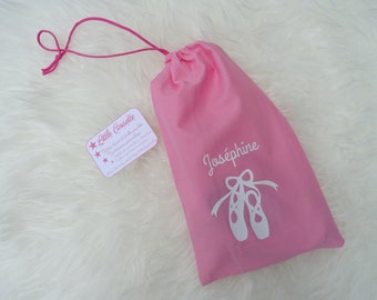 Pouch for ballet shoes with the name