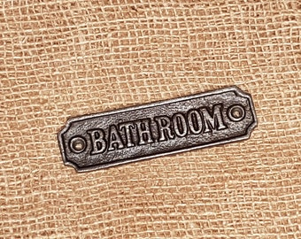 Bathroom - Cast Iron Vintage Plaque