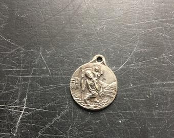 Silver st christoper pendant stunning piece