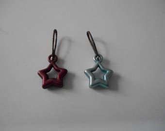 Stitch markers with star-shaped Brown and gray