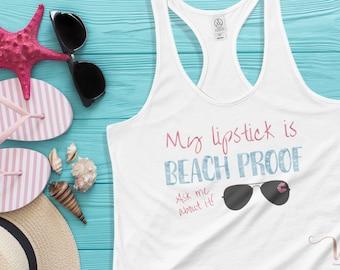 My Lipstick is Beach Proof LipSense Tank Top