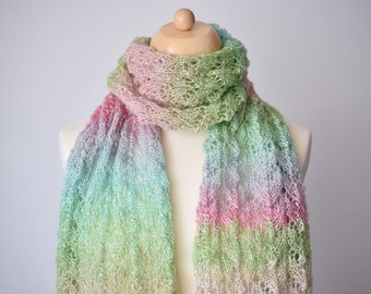 Knit Shawl Pattern, Knit Scarf Pattern, Aimal