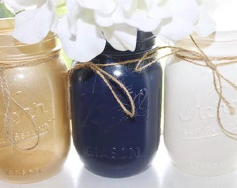Tricolored Mason Jars