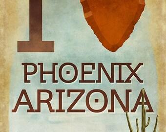 I heart Phoenix, Arizona (Art Prints available in multiple sizes)