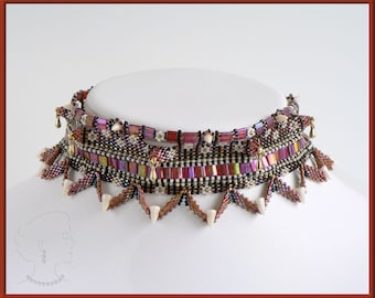 Instant Download - Ishtar Collar - Beading Pattern - Necklace - Dimensional Peyote - Featured in Contemporary Geometric Beadwork Vol. 2