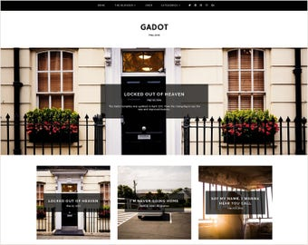 Gadot | Responsive Blogger Template + Free Installation