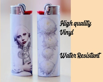 Lady Gaga Bic Lighter / American Horror Story / Feminist Art / Gift / Collectibles / Girl Power / AHS / Floral / Flowers / Gift / Gifts