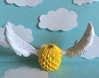 3D Origami Golden Snitch