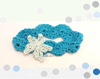 Blue headband adorned with star