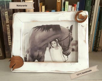 Picture Frame Horse-Hoofprint-Heart