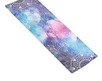 MERAKI Luxe Printed Yoga Towel Travel Yoga Mat | Premium Eco Friendly Soft Suede