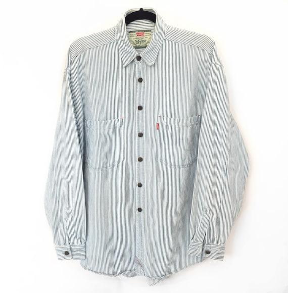 90s Levi's Pinstripe Button Up