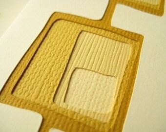 Googie in Harvest Gold - set of 2 handcut cards
