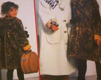 Burda 3432, Girl's Winter Coat