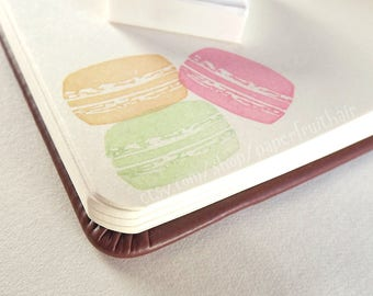 macaron cookie - hand carved stamp