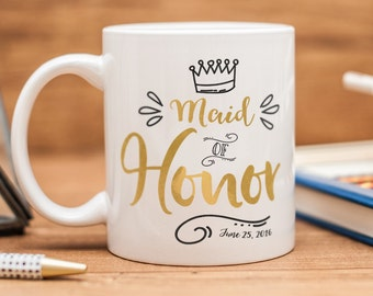 Maid of Honor mug, personalized Maid of Honor gift
