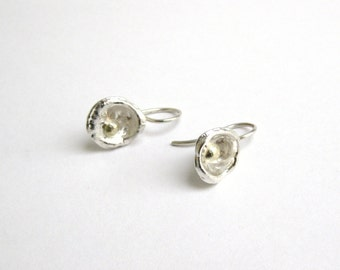 Earrings silver and gold