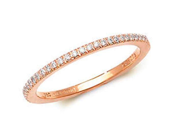 18ct Rose Gold ETERNITY DIAMOND Half Eternity Ring Band