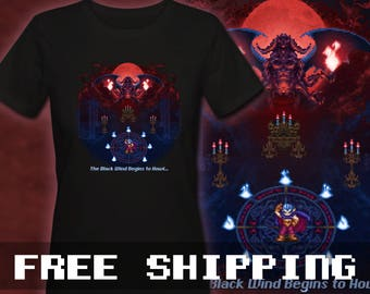 Chrono Trigger Magus Black Wind T-Shirt Mens & Ladies * Free Shipping * Great Gamer Gift
