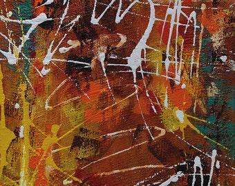 Abstract Acrylic || Orange Marmalade || Free shipping