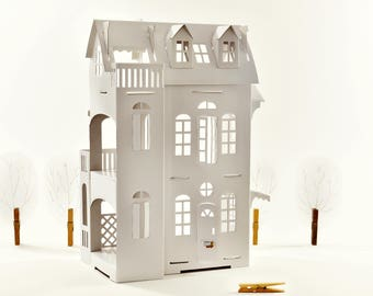 Cardboard luxury - Paper Imagination White Dollhouse - creative toy